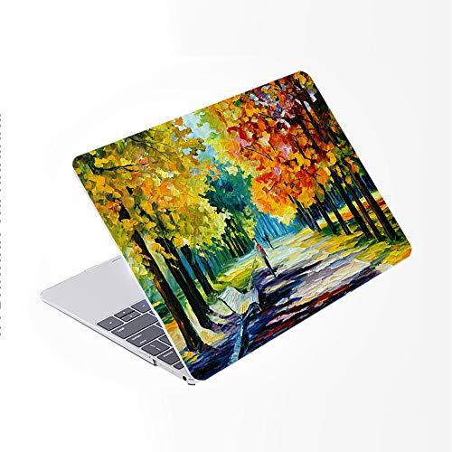SDH Funda rígida para MacBook Air de 13 pulgadas, modelo A2337/A1932/A2179 con pantalla Retina, compatible con Touch ID, Landscape Painting 12