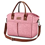 Lunch Bags for Women Insulated Thermal Lunch Tote Bag with Shoulder Strap Upgrade Large Lunch Box Container Drinks Holder for Adults Men Work College Picnic Beach Park