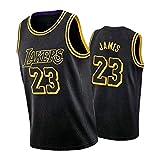 CLKI LeBron James New Season - Camiseta de baloncesto para hombre, diseño de Lakers Championship Edition