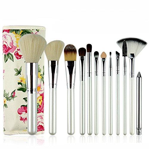 XUAN Beauté de poignée 12 Perle blanc super doux rose maquillage pinceau Kit