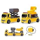 Engineering Car Toys per Bambini, STEM Education Giocattoli da Costruzione, Escavatore Magnetico per Camion, Ribaltabile per Bambini, Ragazzi, Ragazze