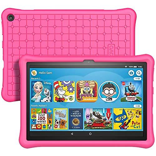 TiMOVO Funda Compatible con All-New Fire HD 8 Tablet (10th Generation, 2020 Release), Ligera Cubierta y Anti-Choque Esquina Silicona Suave Protector Compatible con Fire HD 8 & 8 Plus 2020 - Magenta