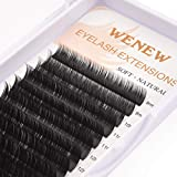 WENEW Flat Lashes Individual Classic Eyelash Extensions 0.20mm D Curl Mixed Tray 8mm-16mm