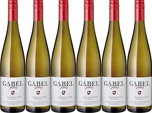 6x Sauvignon Blanc QW Riffkalk Gabel 2019 - Weingut Gabel, Pfalz - Weißwein