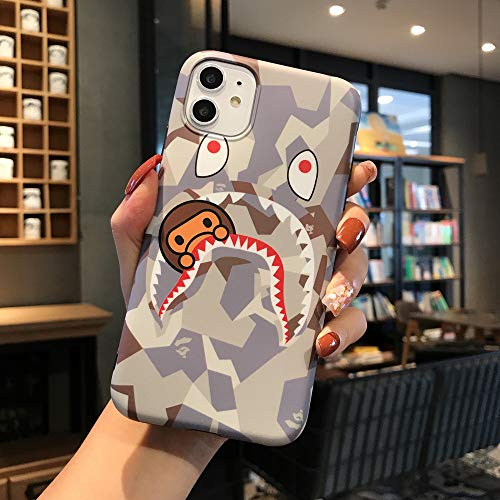 Fanke iPhone 11 Soft Case,IMD Sleek Smooth Texture Anti Scratch Durable Coloring Premium TPU Slim Fit Cover for 6.1 iPhone 11 with Street Fashion Trend Design (Shayu Monkey White)