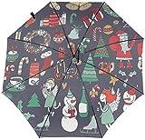 Paraguas plegable automático universal protección UV a prueba de viento - Set de Navidad