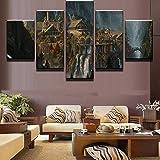 XLST 5 Pièce HD Imprimé Seigneur des Anneaux Toile Affiche Mur Art Peinture pour Salon décor à la Maison,B,40x60x240x80x240x100x1