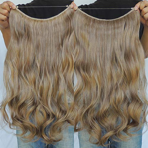 "Secret Halo Hair Extensions Flip in Curly Wavy Hair Extension Synthetic Women Hairpieces 20"" (20 Inch, #27/613)"