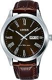 Lorus Hommes Analogique Classique Quartz Montre avec Bracelet en Cuir RXN51DX9