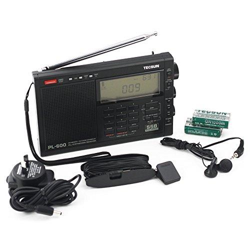 Tecsun PL-600 AM FM LW SSB Shortwave Radio, Black