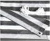 Datenschutz Gartenschutz Sichtschutz Zaun Trennwand Abdeckung Hochdichte Polyethylen 180Gsm Wind- Und Uv-Schutz Balkone Dekorative Zäune Gartenzaun (Farbe: Grauweiß, Größe: 1,2X5M)