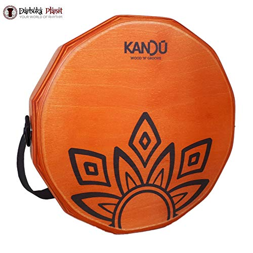 KTÄK -The First Handcrafted, Hand Drum Percussion, Two-Sound Cajón Body Snare, Portable Cajon by Kandu (Dragon Fire)