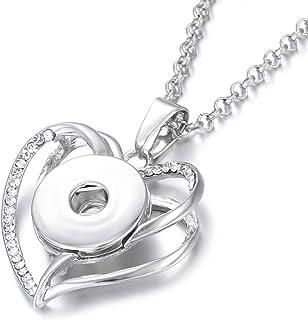 N17-GBMW Fits 18-20mm Ginger Snaps Noosa Magnolia /& Vine Lanyard Snap Necklace Badge Holder Greek Key 32 Link Chain Silvertone