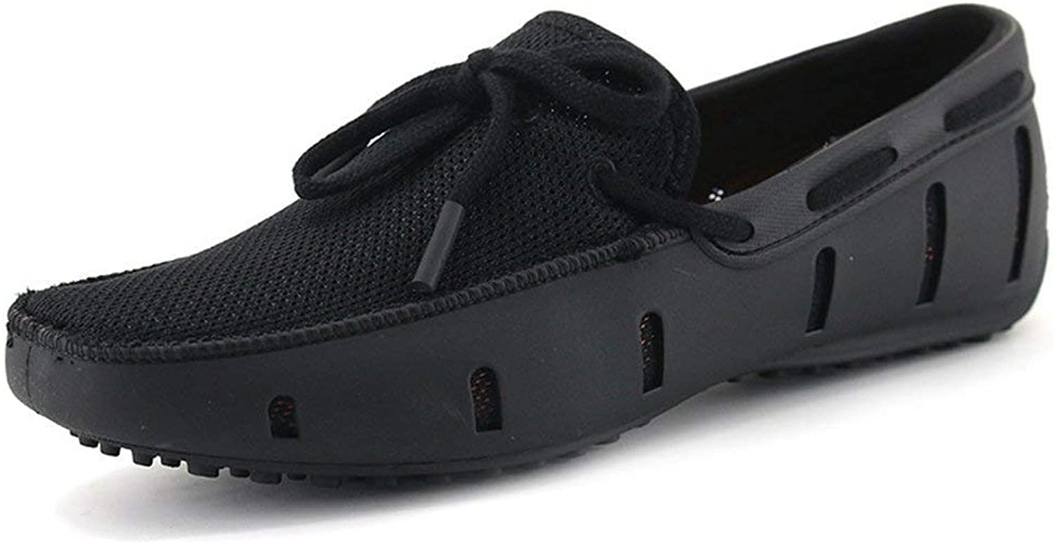 ZHRUI Mens Loafers Casual Fashion shoes Flats Breathable Slip On Swims Loafers Driving shoes (color   Black, Size   5.5 UK)