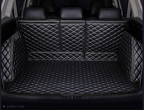 WillMaxMat Custom Fit Pet Trunk Cargo Liner Floor Mat for Maserati Levante -Black w/Black Stitching