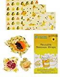 Reusable Beeswax Wraps, 3pcs by Blue Power Eco Enterprise – Eco-Friendly Beeswax Food Wrap – Sustainable and Zero Waste Products Beeswax Wrap - 1 Small, 1 Medium, 1 Large