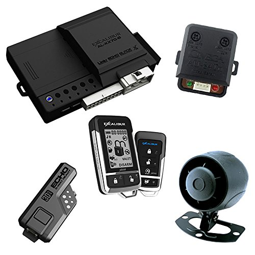 Excalibur AL18703DB 2-Way Paging Remote Start/Keyless Entry/Vehicle Security System (with 2 Button LCD Remote and Sidekick Remote), 1 Pack
