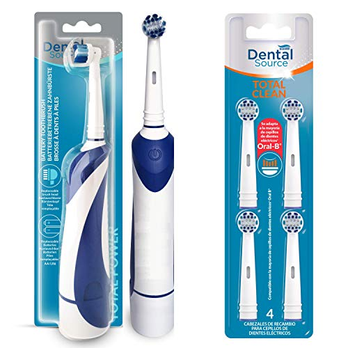 Dental Source Pack Cepillo eléctrico de regalo + 4 Recambios TOTAL CLEAN,...