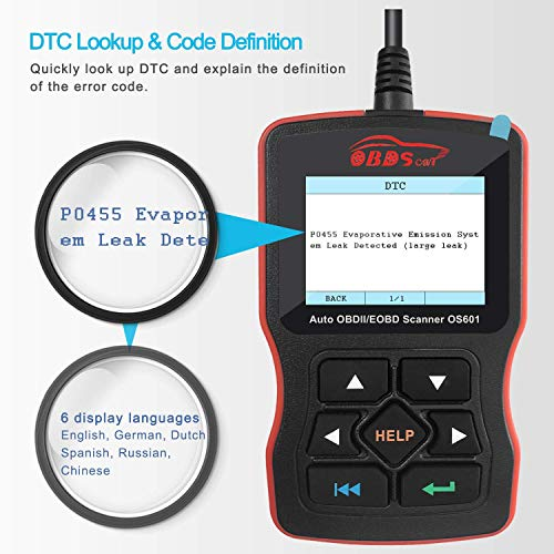 OBDScar OS601 OBD2 escáner universal para motor automotriz, lector de códigos de avería, herramienta de diagnóstico EOBD OBDII CAN