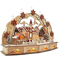 Wichtelstube collection LED candle arch with base + timer Christmas market candle arch candle arch