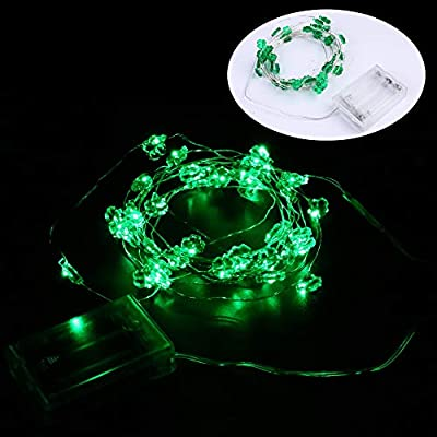 Happy st.patrick?s Day Party Decorations,Konsait Shamrock String Lights Battery Operated(13.2Ft, 40Llights, 2Modes) for Home Window Holiday St.patricks Day Party Favors Supplies