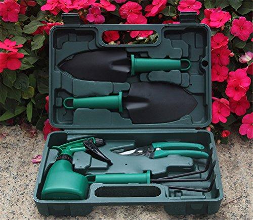 Ensemble D'outils De Jardin -5 Pièces-Avec Élagueur/Râteau/Pelle/Arrosoir/Légumes Creuser Des Outils De Jardinage À Main Avec Étui De Rangement