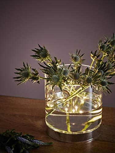 Markslöjd Bouquet Tischleuchte Chrom, Transparent 3W LED A - Tischleuchte (Cromo, Transparent, Glas, Metall, Schlafzimmer, Wohnzimmer, IP20, III, 3W)