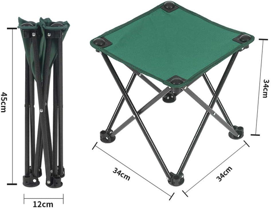 KaiKai Tabouret - Tabouret Pliant, pêche Portable Tabouret, Multi-Fonction Mazar/Sketch Chaise/Camping Tabouret Chaise Pliante (Couleur: B, Taille: 26 * 26 * 24cm) (Color : D) E