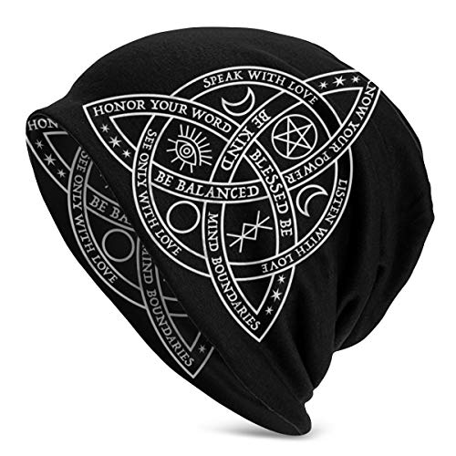 ~ Good Witch Celtic Knot Soft Beanie Cap Slouchy Knit Hat Cozy Skull Cap Lightweight Stretch Sleep Hat for Unisex