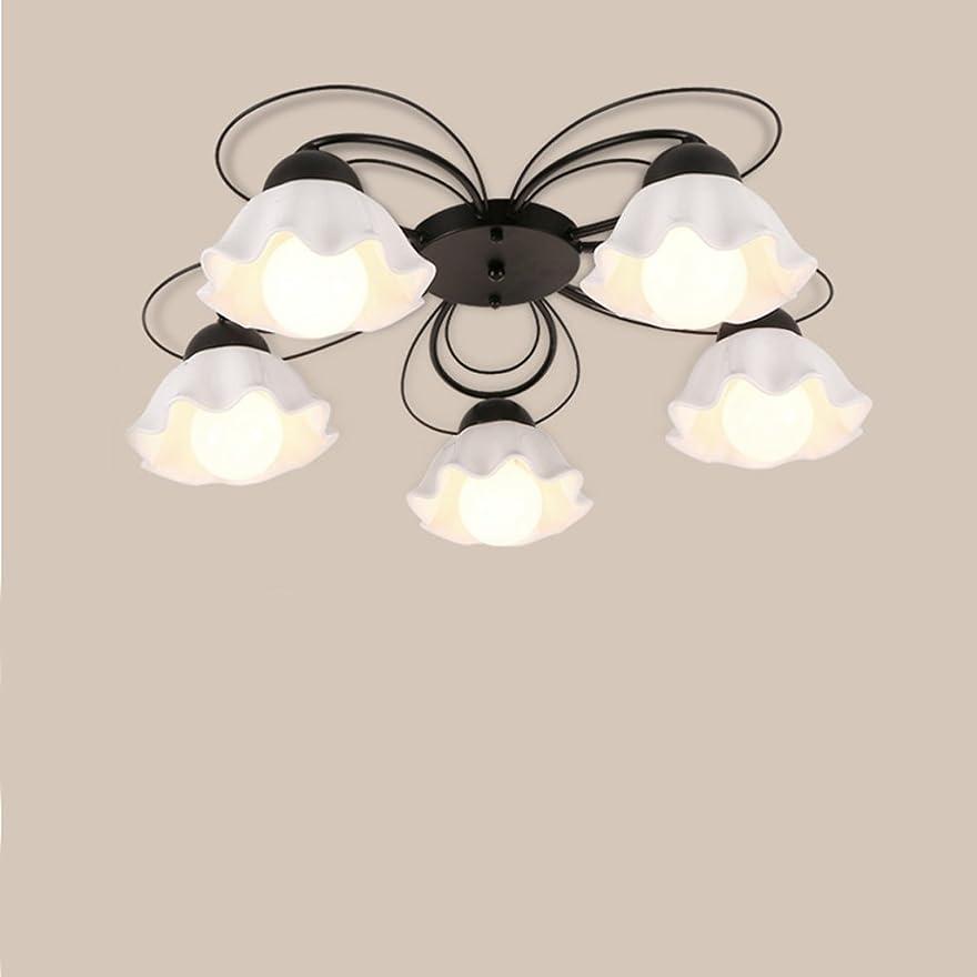 羨望代わりの暫定YSYYSH ミルキーガラスランプシェードファッションアメリカンシーリングランプシンプルな北欧ガラスLEDリビングルーム暖かい寝室ルーム通路天井ランプ 寝室の装飾ライト
