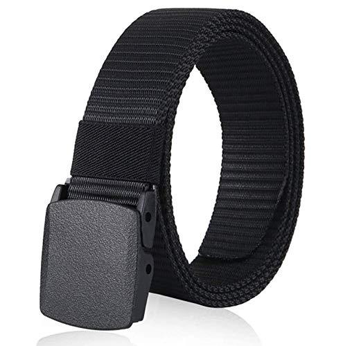 ZORO Men's Nylon woven fabric Belt, Hole free plastic flap buckle