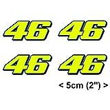 Valentino Rossi fluorescente amarillo 46 vinilo adhesivo 2013 ( 4 x 5cm) pegatina sticker