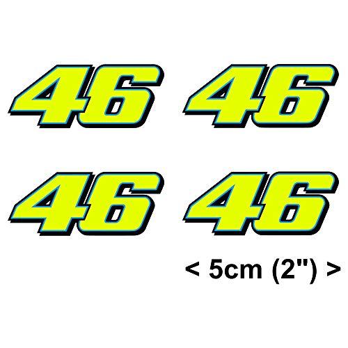 Rossi Autoadesivo Fluorescente Giallo 46 Decalcomania del Vinile 2013 (4 x 5cm)