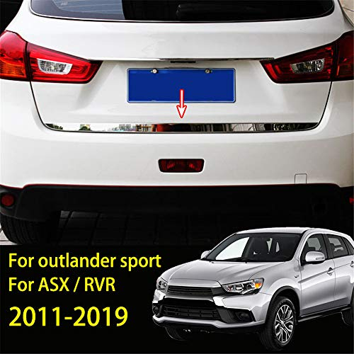 AUTOXBERT Tailgate Lid Cover Trim for Mitsubishi Outlander Sport/ASX/RVR 2011-2019 Stainless Steel Rear Trunk Back Door Strip Sticker Molding Decoration Car Accessories Styling