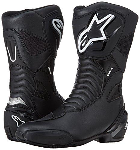 Alpinestars 1691470243 Botas de Moto SMX S Negro-43, Negro, 43 EU