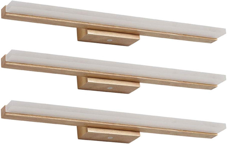 YHSGD Solide Holz spiegelleuchte led wasserdichte Moderne Wandleuchte für nebeltisch für schminktisch Bad Beleuchtung,braun,40cm