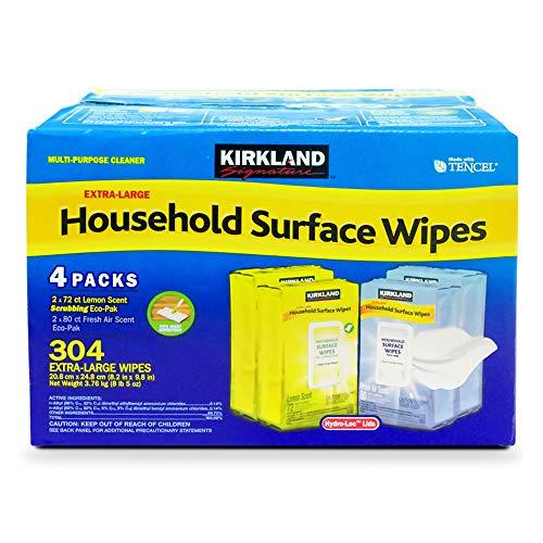 Toallitas desinfectantes extra grandes para superficies del hogar de Kirkland Signature