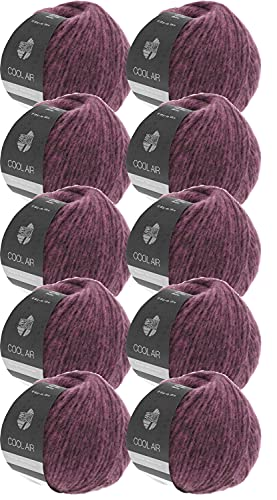Lana Grossa Cool Air color 07, confezione da 500 g, lana merino con alpaca, 10 x 50 g, per lavorare a maglia o all'uncinetto