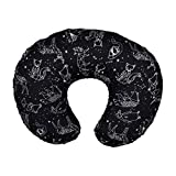 Original Nursing Pillow Cover Breastfeeding Pillow Slipcover,WarmBay Stretchy Newborn Removable U-shaped Head Neck Support Zipper Pillowcovers,Snug Fits All Nursing Pillows Positioners (Constellation)
