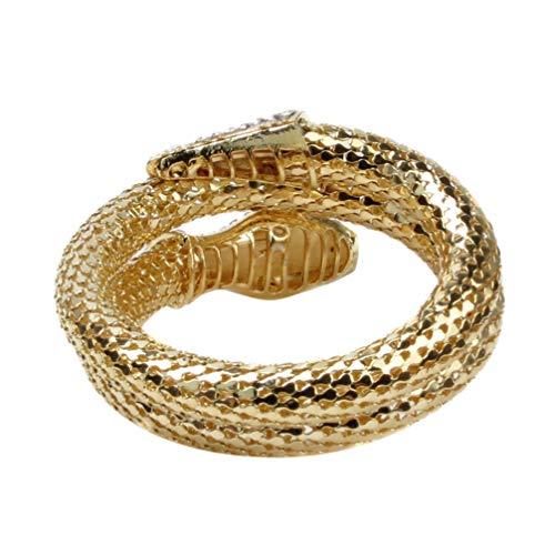 NUOBESTY Schlangenarmreif Armband Ägypten Cleopatra Wirbel Schlange Schlangenarmband Offene Manschette Armreif für Dame Frauen Halloween Weihnachten Cosplay