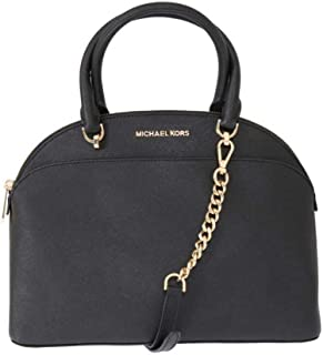 15e33c45842f MICHAEL Michael Kors Large Dome Emmy Saffiano Leather Satchel Shoulder  Handbag - Black