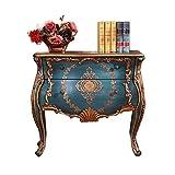 Zhengowen Cajonera Vintage de cajones, Muebles Retro rústico Pintado a Mano Pintado Porche cajón del Armario Aparador Retro Industrial (Color : Azul, Size : 95x46x89cm)