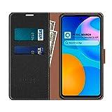 COODIO Huawei P Smart 2021 Case, Huawei P Smart 2021 Phone Case, Huawei P Smart 2021 Wallet Case, Magnetic Flip Leather Case For Huawei P Smart 2021 Phone Cover, Black