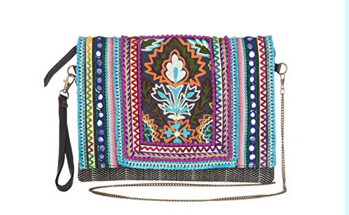 MAYA handbags Cartera HEMAL II para Mujer-Azul