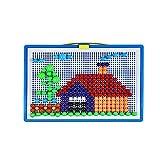 Qingxin 296 unids hongos clavos Pegboard juego Jigsaw Puzzle DIY educativo bloques de construcción de hongos peg rompecabezas para niños