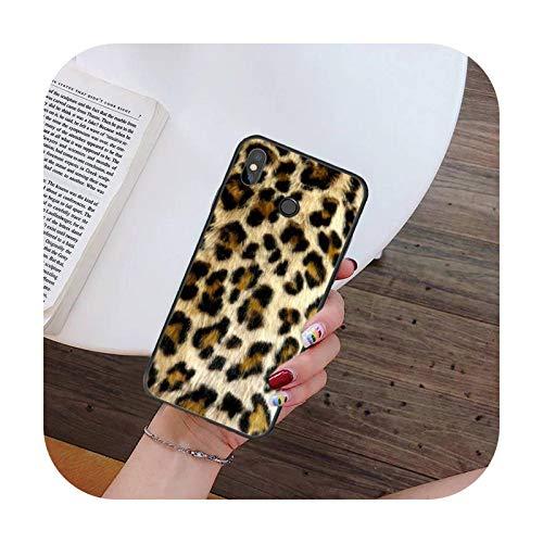 Hopereo Moda Sexy Leopard Print Panther teléfono caso para Xiaomi para Redmi 4X 5Plus 6A 7 7A 8 8A para Redmi Note 4 5 7 8 9 Nota 8T 8Pro 9Pro-A4-Para Redmi 7