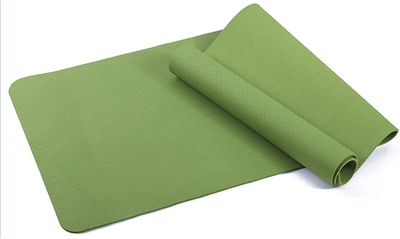 IUYWL Anfnger Monochrome TPE Yogamatte 183cm × 80cm × 8mm rutschfeste Fitnessmatte zu Hause Bodenmatte Yoga Matte (Farbe   D)