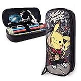 Pokemon Pikachu - Estuche para lápices, gran capacidad, estuche para lápices, estuche para lápices, estuche con varios compartimentos para niños y niñas