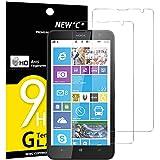 NEW'C Lot de 2, Verre Trempé pour Nokia Microsoft Lumia 1320, Film Protection écran...