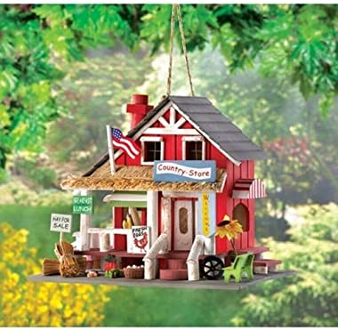 Gifts & Decor Rustic Old Time Country Store Wooden Bird House